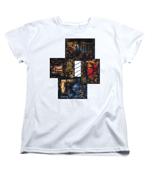Women's T-Shirt (Standard Cut) featuring the painting Love Four Seasons by Fei A