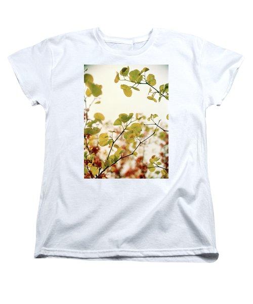 Love Leaf Women's T-Shirt (Standard Cut) by Rebecca Harman