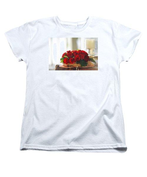 Love Message Women's T-Shirt (Standard Cut) by Jenny Rainbow