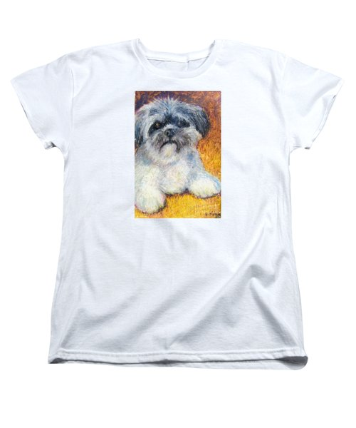 Love My Lhasa Women's T-Shirt (Standard Cut) by Laurie Morgan