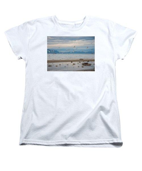 Herring Season  Women's T-Shirt (Standard Cut) by Roxy Hurtubise