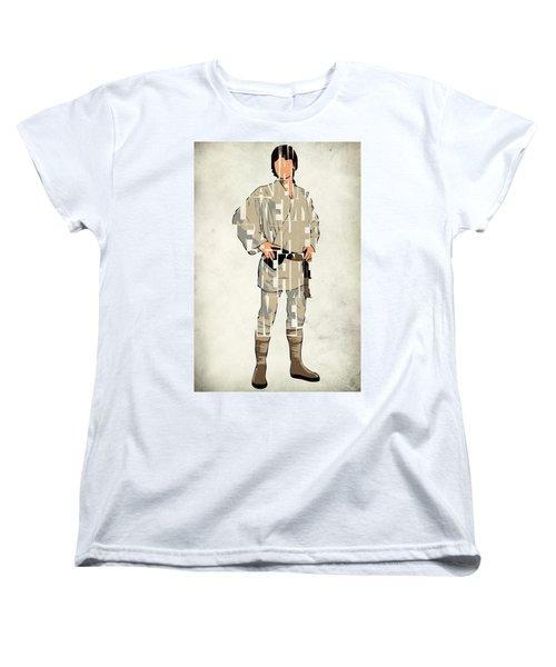 Luke Skywalker - Mark Hamill  Women's T-Shirt (Standard Cut) by Ayse Deniz
