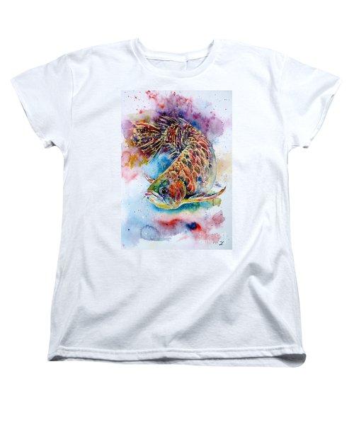 Magic Of Arowana Women's T-Shirt (Standard Cut) by Zaira Dzhaubaeva