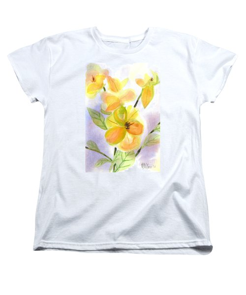 Women's T-Shirt (Standard Cut) featuring the painting Magnolias Gentle by Kip DeVore