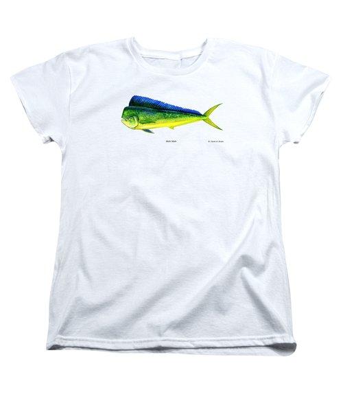 Mahi Mahi Women's T-Shirt (Standard Cut) by Charles Harden