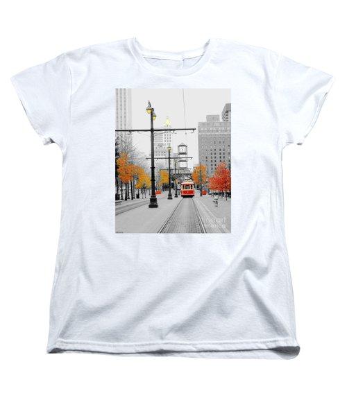 Main Street Trolley  Women's T-Shirt (Standard Cut) by Lizi Beard-Ward