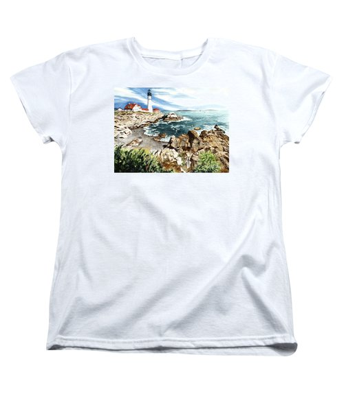 Maine Attraction Women's T-Shirt (Standard Cut) by Barbara Jewell