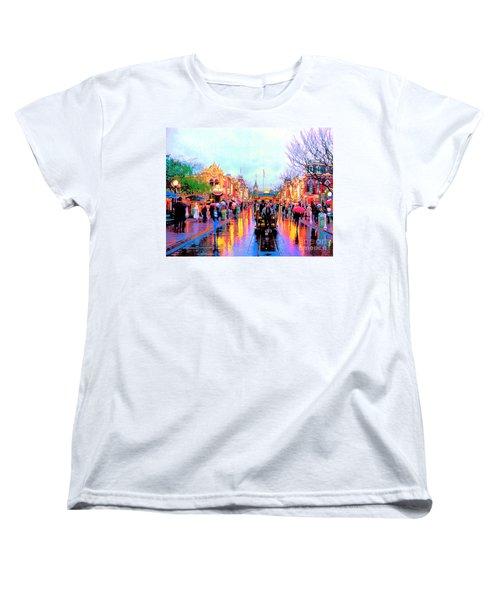 Women's T-Shirt (Standard Cut) featuring the photograph Mainstreet Disneyland by David Lawson