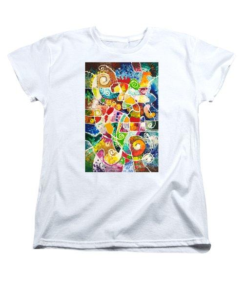 Maize Women's T-Shirt (Standard Cut) by Sally Trace