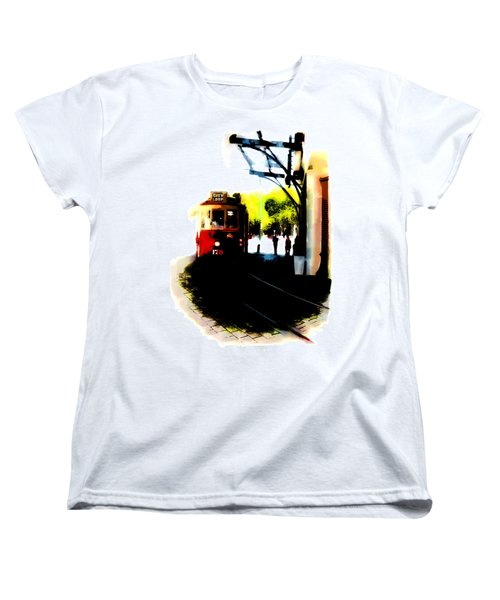 Make Way For The Tram  Women's T-Shirt (Standard Cut) by Steve Taylor