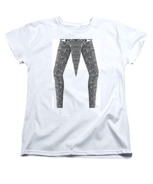 Women's T-Shirt (Standard Cut) featuring the painting Man Maze by Rafael Salazar