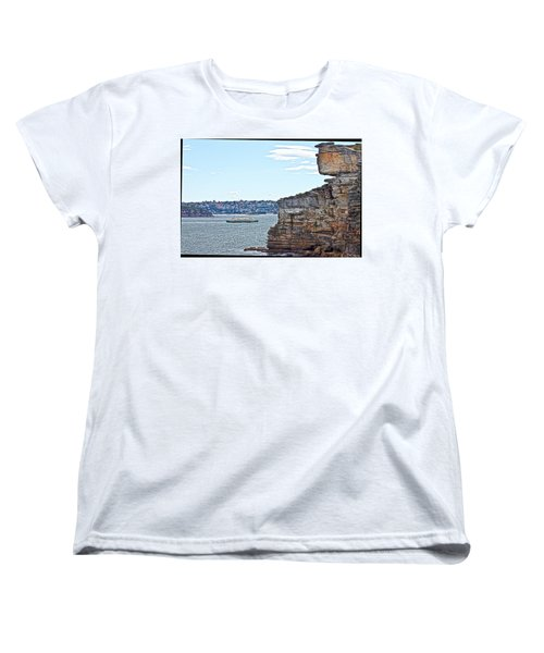 Women's T-Shirt (Standard Cut) featuring the photograph Manly Ferry Passing By  by Miroslava Jurcik