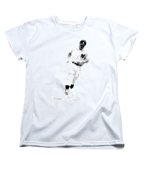Mantles Gate  Mickey Mantle Women's T-Shirt (Standard Cut) by Iconic Images Art Gallery David Pucciarelli