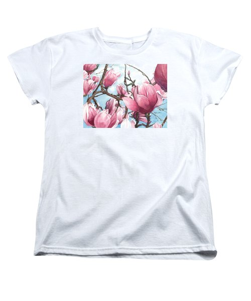Women's T-Shirt (Standard Cut) featuring the painting March Magnolia by Barbara Jewell