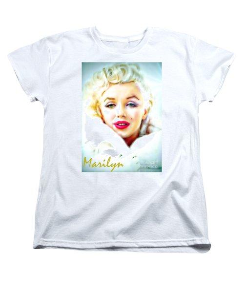 Marilyn Monroe Women's T-Shirt (Standard Cut) by Barbara Chichester
