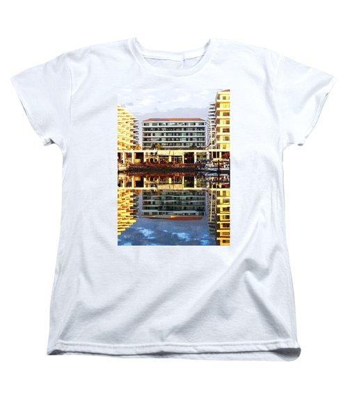 Marina Mazatlan Mirror Women's T-Shirt (Standard Cut) by Anne Mott