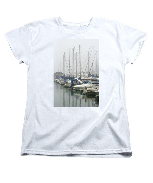 Marina Reflections Women's T-Shirt (Standard Cut) by Kay Novy