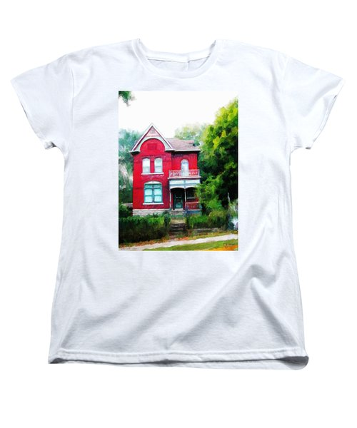 Women's T-Shirt (Standard Cut) featuring the painting Market Street by Dave Luebbert