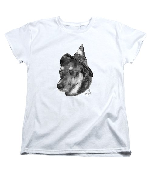 Marlee In Witch's Hat -021 Women's T-Shirt (Standard Cut) by Abbey Noelle