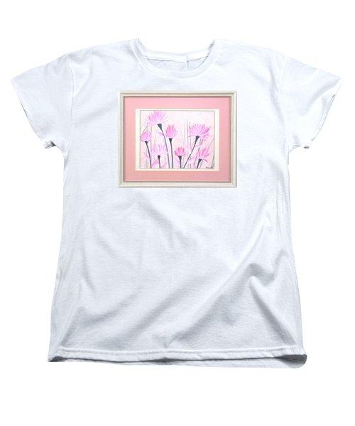 Marsh Flowers Women's T-Shirt (Standard Cut) by Ron Davidson