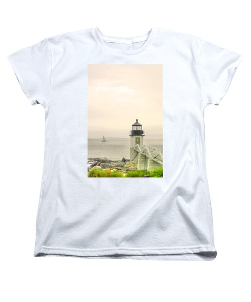 Marshall Point Lighthouse In Maine Women's T-Shirt (Standard Cut) by Denyse Duhaime
