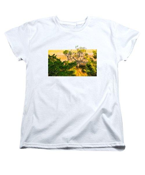 Marsh Cedar Tree And Moss Women's T-Shirt (Standard Cut)