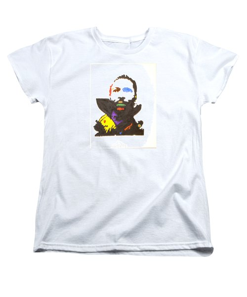 Women's T-Shirt (Standard Cut) featuring the painting Marvin Gaye by Stormm Bradshaw