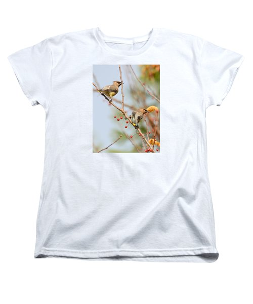 Women's T-Shirt (Standard Cut) featuring the photograph Masked Duo by Kerri Farley