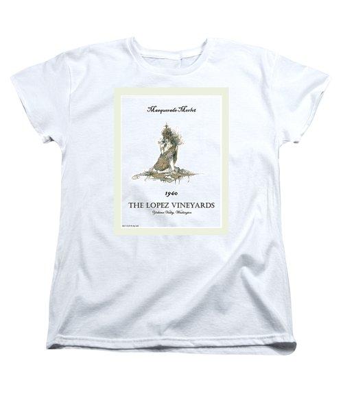 Masquerade Merlot Women's T-Shirt (Standard Cut) by Julio Lopez