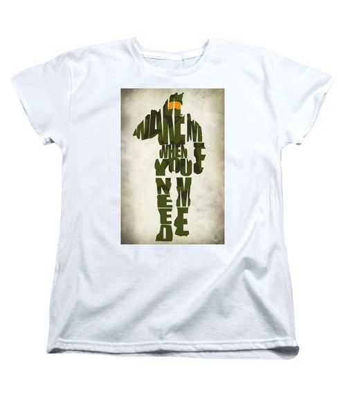 Master Chief Women's T-Shirt (Standard Cut) by Ayse Deniz