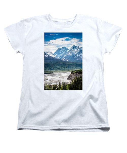 Matanuska River  Women's T-Shirt (Standard Cut) by Andrew Matwijec