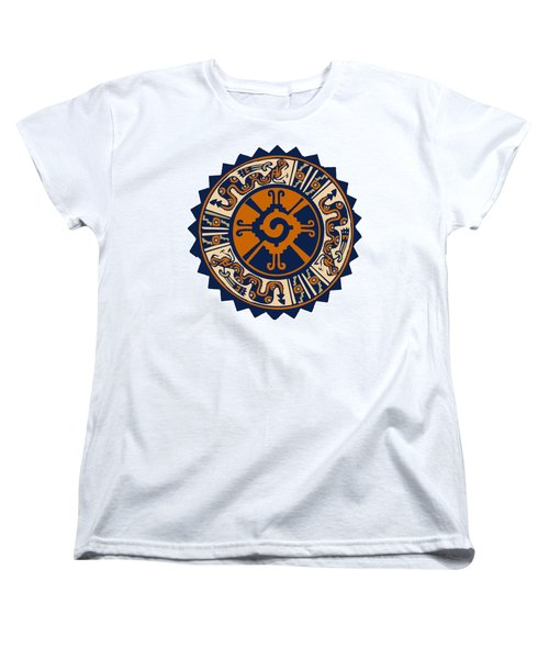 Women's T-Shirt (Standard Cut) featuring the digital art Mayan Hunab Ku by Vagabond Folk Art - Virginia Vivier