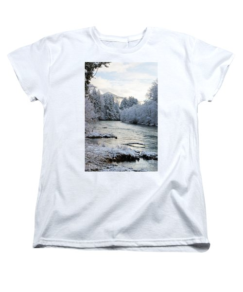 Mckenzie River Women's T-Shirt (Standard Cut) by Belinda Greb