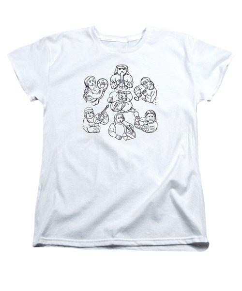 Medieval Musicians Women's T-Shirt (Standard Cut) by Phil Cardamone