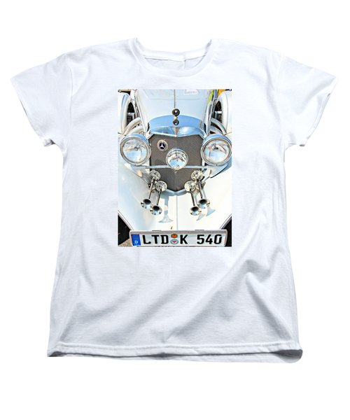 Vintage Car Women's T-Shirt (Standard Cut) featuring the photograph Mercedes Of Old  by Aaron Berg