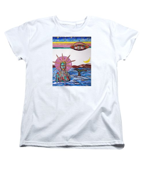 Yemoja Ufo  Women's T-Shirt (Standard Cut) by Stormm Bradshaw