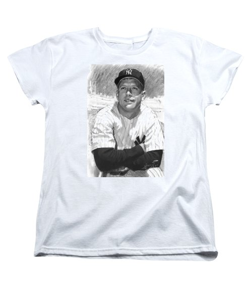 Mickey Mantle Women's T-Shirt (Standard Cut) by Viola El