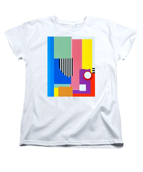 Women's T-Shirt (Standard Cut) featuring the painting Mid Century Compromise by Thomas Gronowski