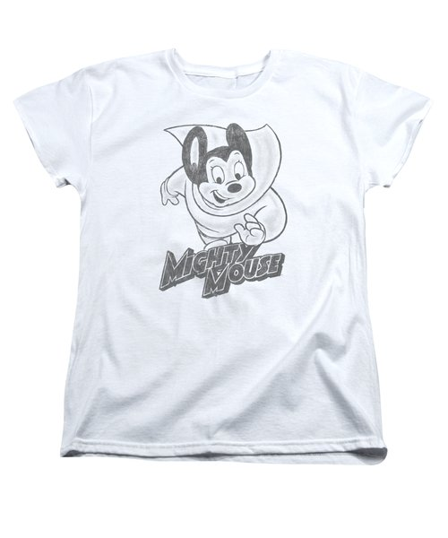 Mighty Mouse - Mighty Sketch Women's T-Shirt (Standard Cut) by Brand A