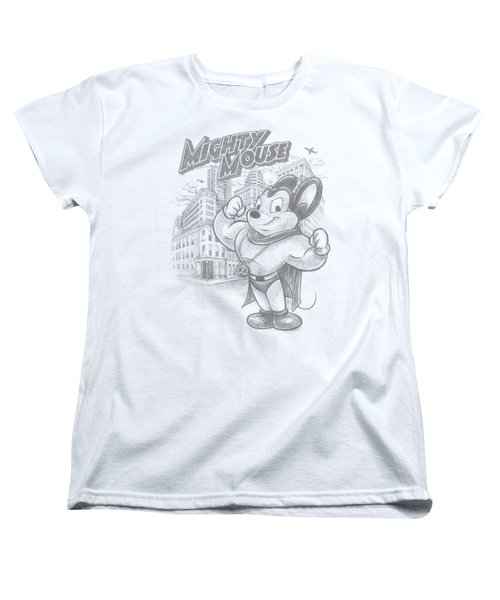 Mighty Mouse - Protect And Serve Women's T-Shirt (Standard Cut) by Brand A