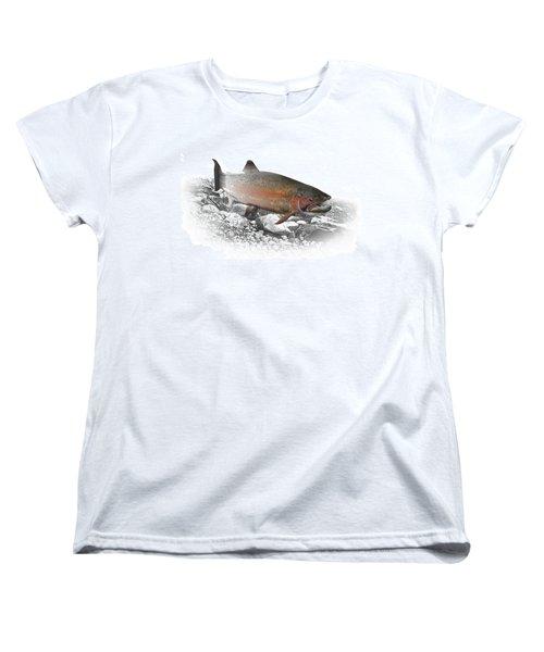 Migrating Steelhead Rainbow Trout Women's T-Shirt (Standard Cut) by Randall Nyhof