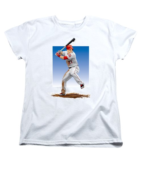 Mike Trout Women's T-Shirt (Standard Cut) by Scott Weigner