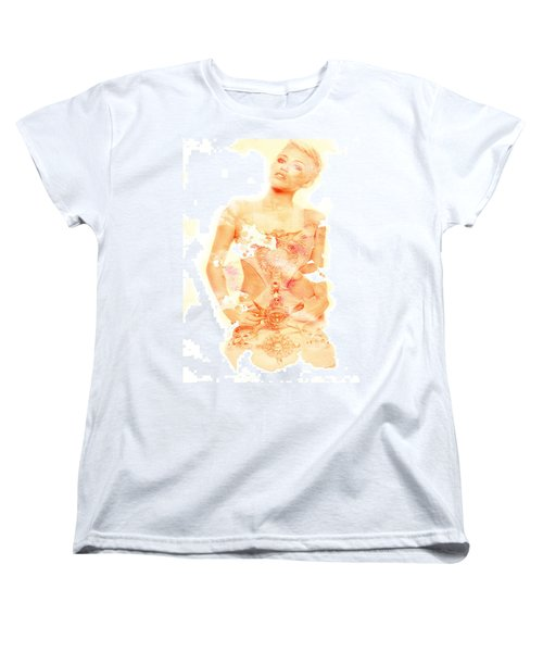Women's T-Shirt (Standard Cut) featuring the digital art Miley by Brian Reaves