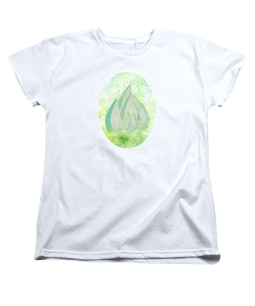 Women's T-Shirt (Standard Cut) featuring the drawing Mini Forest With Birds In Flight - Illustration by Lenny Carter