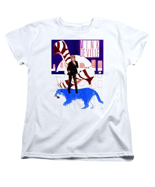 Mink Deville - Le Chat Bleu Women's T-Shirt (Standard Cut) by Sean Connolly