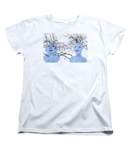 Mister And Missis Snowball - Featured 3 Women's T-Shirt (Standard Cut) by Alexander Senin