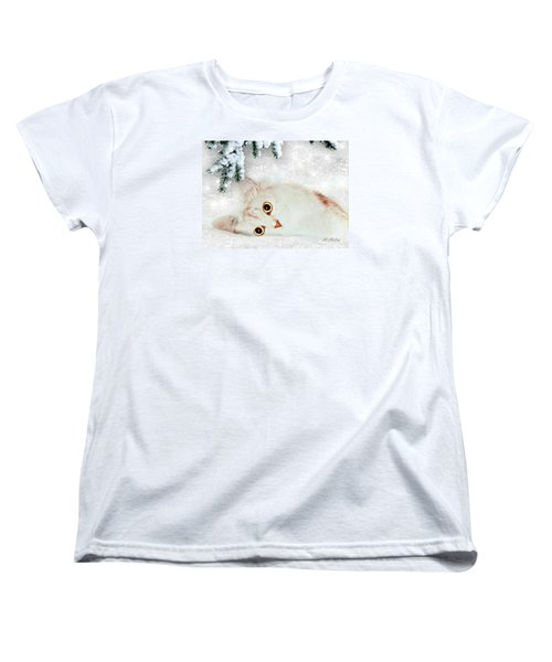 Mistletoe In The Snow Women's T-Shirt (Standard Cut) by Morag Bates