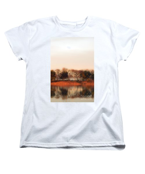 Misty Winter's Morning Women's T-Shirt (Standard Cut) by Angela DeFrias