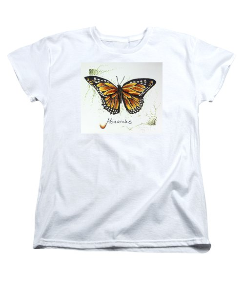 Monarchs - Butterfly Women's T-Shirt (Standard Cut) by Katharina Filus