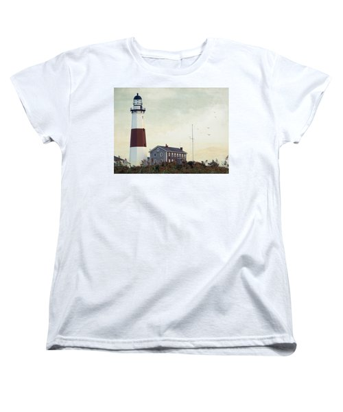 Montauk Dusk Women's T-Shirt (Standard Cut) by Keith Armstrong